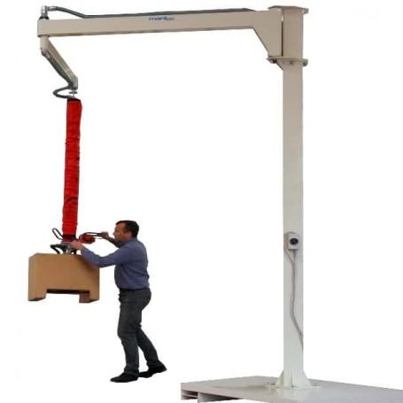 Manupulador de vacío para cajas con brazo articulado