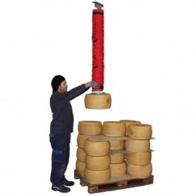 Manipulador de vacío para ruedas de queso