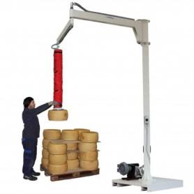Manipulador de vacío para ruedas de queso con brazo articulado