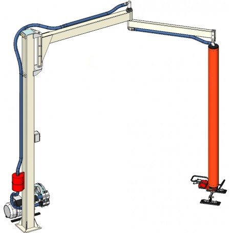 manipulador de vacío a brazo articulado para paneles