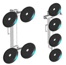 herramienta de agarre con cuatro ventosas